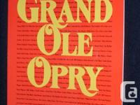 Grand Ole Opry picture history book. Colour photos &