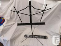 This is for a Music Stand. It is all black and New in