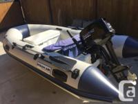 """Must Sell - 10'9"""" Rigid Inflatable Boat with 15hp"""