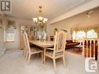 Oak dining table and six chairs plus hutch buffet