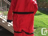 Mustang Integrity survival suit, size large. Used but