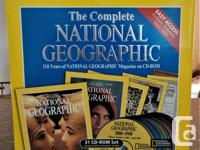 The National Geographic - 31 CD Rom Set --- 110 years