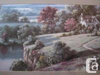 """This framed nature print is 27"""" high x 38"""" wide. With a"""