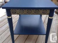 This cute side table has so many amazing details. It