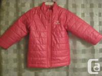 OLD NAVY JACKET Gal's PINK Frost Free Coat - 4T.