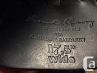 Gorgeous soft black leather Santa Cruz dressage saddle