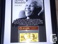 South Africa's hero, Nelson Mandela...  This photo is