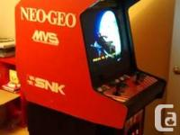 I'm selling a very nice Neo Geo with quite a few games.
