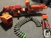 TWO NERF Vulcan Machine Guns and NERF LongShot For