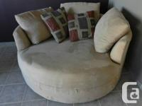 Beautiful light tan microsuede nest chair (or as I tend