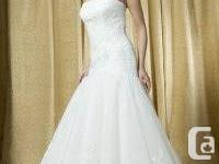 ALFRED SUNG 6687 BRIDAL GOWN WITH SPANISH LACE VAIL