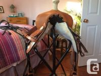 14 inch seat semi quarter horse bars comes with