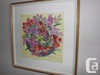 Paint by Margaret Galloway of Flowers. $50. A stunning