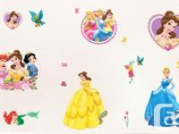I have a New 16 Piece Princess Removable Wall Stickers