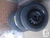 New 185-65-15 Winters on 5x100rims--Toyota