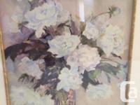 Two really nice floral prints, price is for both. Great