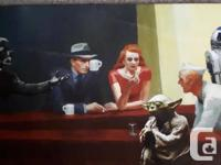 NEW 3.3 Foot Long Star Wars Picture Mounted on Wood
