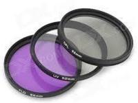 3 PCS 52mm PL UV FLD filter kit for Nikon Like D3100
