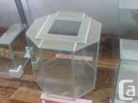"50 Gallon Octagon Terrarium approx. 22"" wide by 22"""