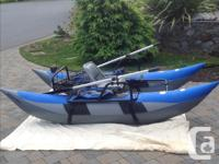 9ft. Wilderness pontoon boat complete with rod holder -