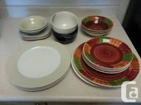 I have a bunch of plates, dishes and bowls for sale.