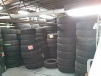 Large selection of new/used tires, over 2000 in stock.