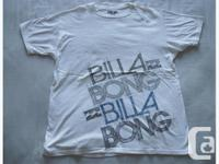 New Billa Bong white short sleeve T-shirt, 100% organic