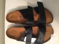 New Birkenstock Arizona (Black) Unisex Men size 9