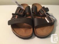 New Birkenstock Arizona (Dark Brown) Unisex Men size 8