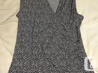 I have a sleeveless dressy faux wrap sleeveless top in