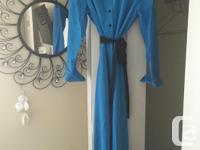 New, never worn, blue, turn down collar dress with