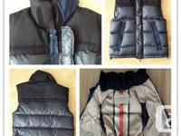 NEW Burberry Robinson Down filled Vest with wool parts