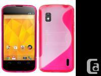 New S Shape TPU Case for Google LG Nexus 4+screen