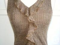 New Channel - Brown Black Knitted Fabric Tank Top /