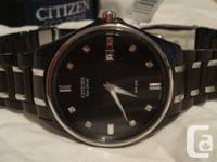 For sale is one Citizen Eco-Drive Men's Diamond Black