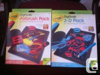 For sale is new Crayola DigiTools 3-D Pack and Airbrush