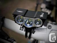 New Cree SolarStorm bike light. Very bright and light