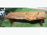 This bold coffee table is crafted from salvaged wood
