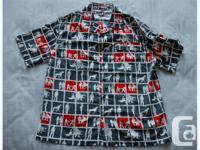 New Ecko Unltd short sleeve, 100% polyester, button up