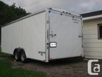 NEW ENCLOSED CAR TRAILER , USED TWICE , keep your car