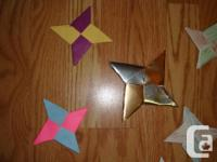 I have Many New Handmade Ninja Stars for sale. These
