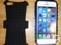 BRAND NEW HARD PLASTIC/ RUBBER CASE COVER FOR IPHONE 5