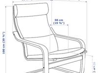 """""""Birch"""" chair and ottoman with accompanying chair"""