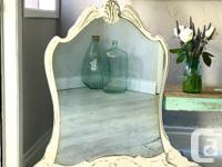 Gorgeous timeworn antique mirror! This is just starting