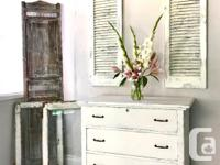 Perfect little shabby chic dresser or chest or bathroom