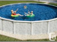 Factory is liquidating 77 above ground swimming pools.