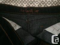 Dark blue Jean skirt you will love. Size 12. Waist is