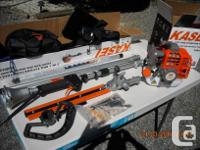 This is a New 2 Stroke Gas Powered pole Hedge Trimmers