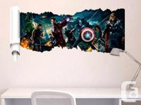 I have a New Large Avengers Removable Wall Stickers!