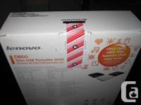 BRAND NEW LENOVO DB60 SLIM USB PORTABLE DVD BURNER.